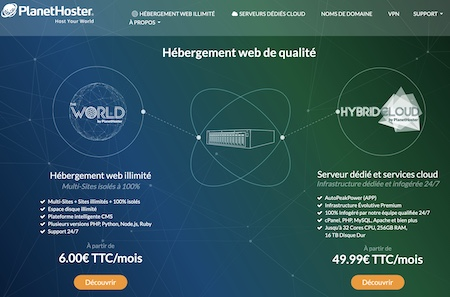 Hebergeur web Planethoster