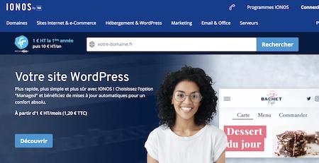 Ionos Hebergeur web